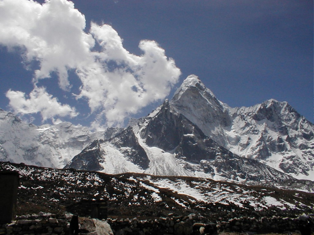 The  north side of Ama Dablam taken from near Chukkung village in the Imja Khola valley  (Eric Simonson)