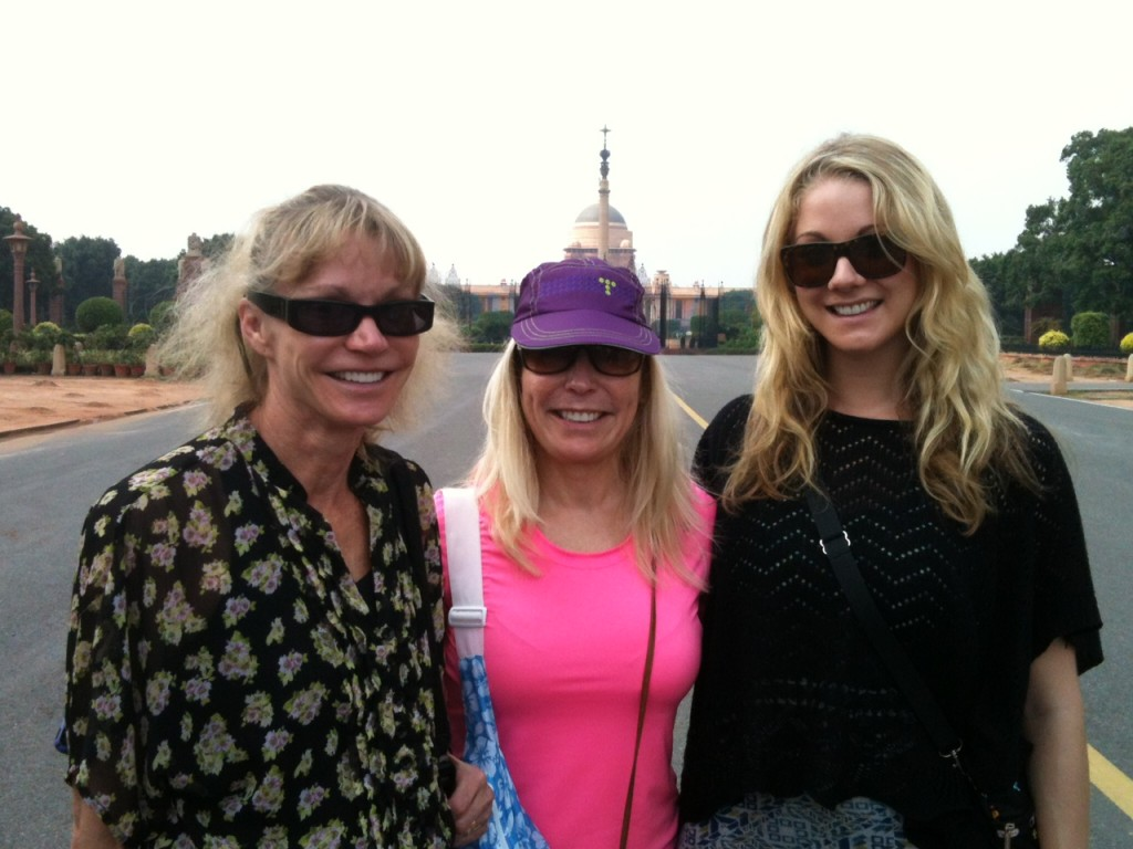April, Sue & Adrienne in front of the Presidential Palace in Delhi (Phil Ershler)