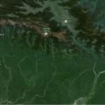 Puncak Jaya (Carstensz), Puncak Trikora, Wamena, and Puncak Mandala (Google Earth)