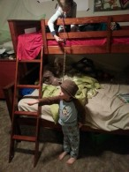 Bunkbed Top-roping.