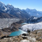 View from Gokyo Ri looking down valley towards Kangtega and Thamserku peaks (Ang Jangbu Sherpa)