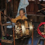 Traditional weaving at Inle lake (photo: Jenni Fogle)