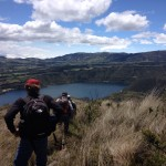 Hiking at Cuicocha. (Luke Reilly)