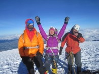 Mike & team on top of Cayambe