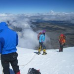Team descending Cotopaxi