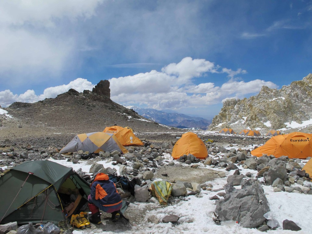 High Camp (C3) on Aconcagua.