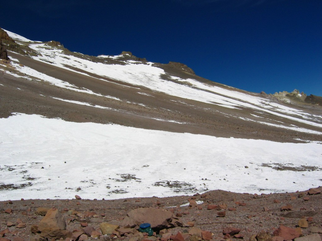 The slopes of Aconcagua.