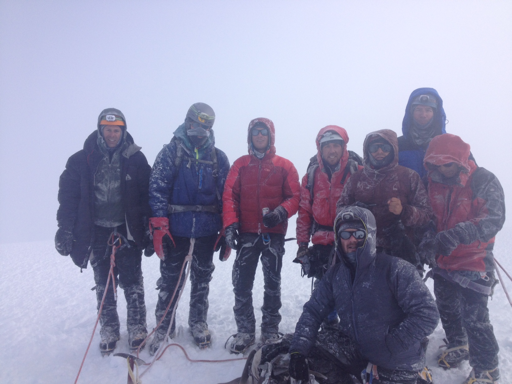Luke's crew on the summit of Cayambe