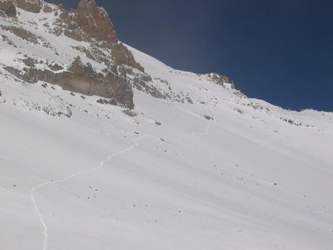 A snowy Aconcagua