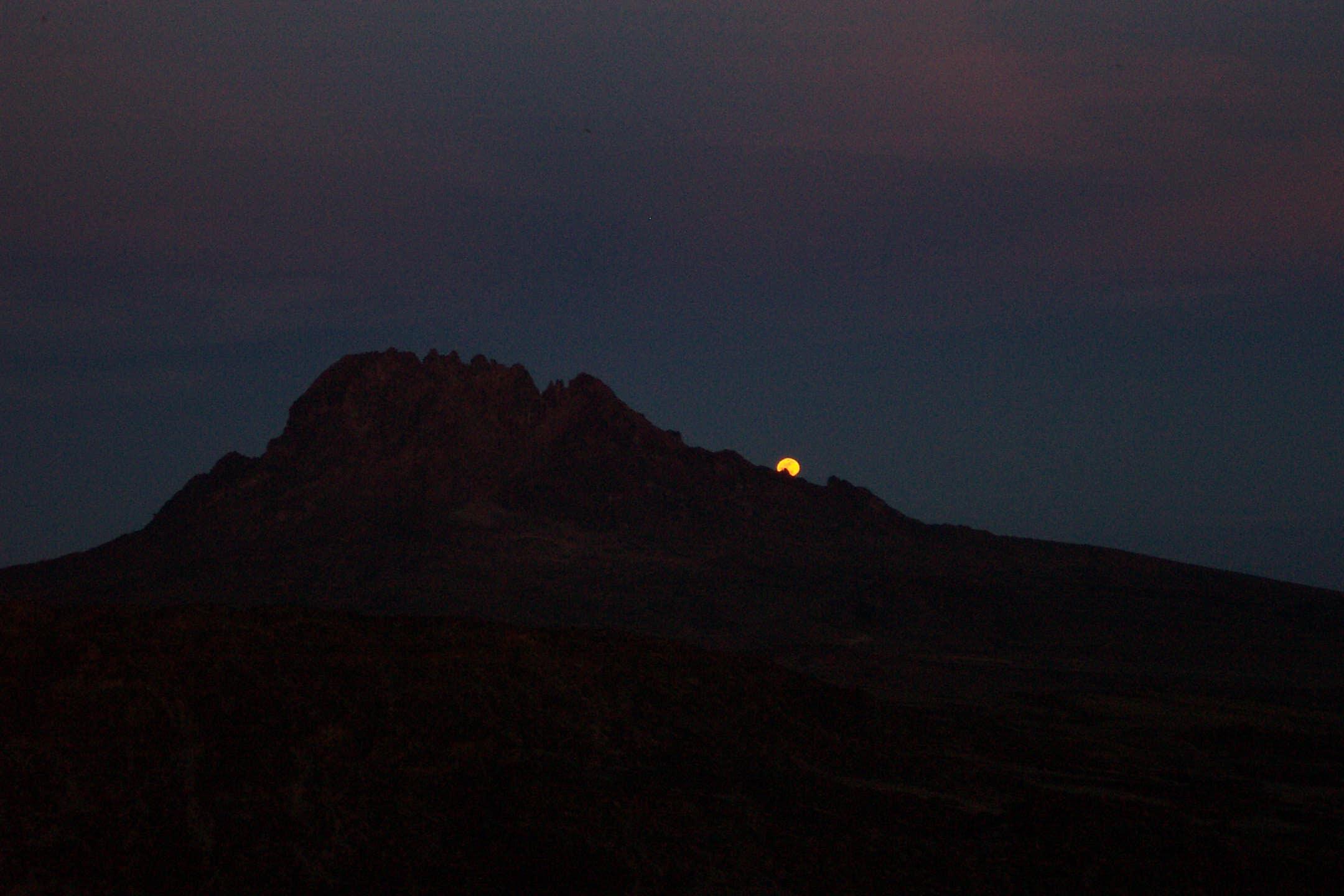 Moonrise over Kili's sister peak Mawenzi  (Eric Simonson)