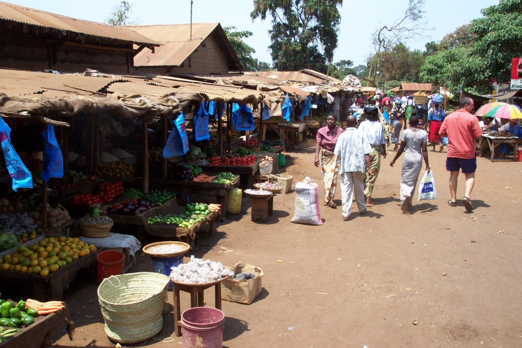 Visiting the local market in Moshi, Tanzania (Eric Simonson)
