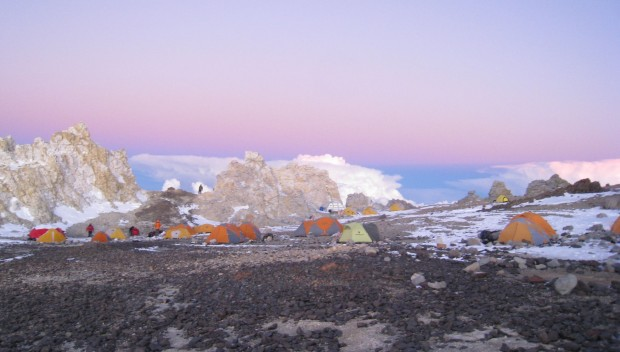 High Camp on Aconcagua. (Warren Wilhide)
