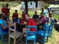 Annapurna trekkers at lunch break (Jenni Pfafman)
