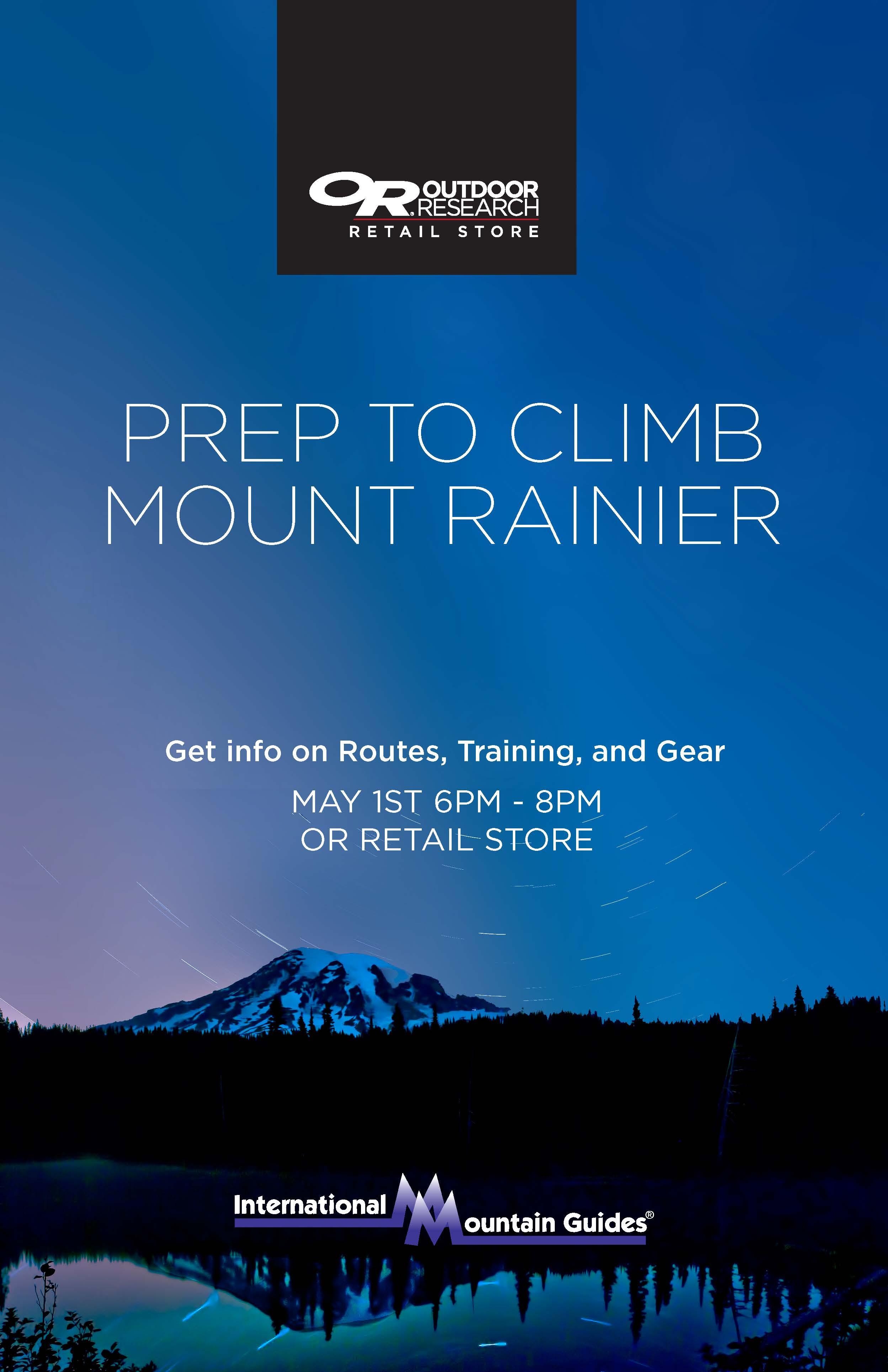 Prep to Climb Mt Rainier