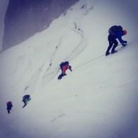 Tough climbing. (Josh McDowell)