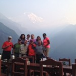 Annapurna team ready to hit the trail in Chomrong  (Jenni Pfafman)