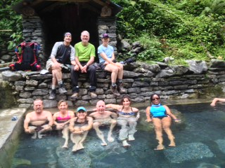 Annapurna Trekkers at the Jhinu Danda hot springs on the Modi Khola river  (Jenni Pfafman)