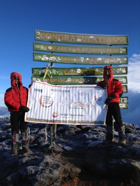 June Kili Team on the Summit