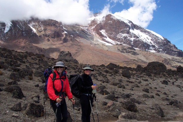 On the way to Barranco Camp, near Lava Tower (Eric Simonson)