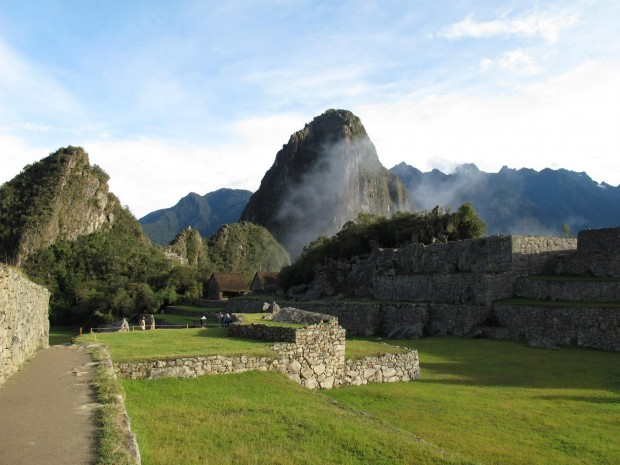 Huayna Picchu is the peak in the center of the photo. (Photo byTye Chapman)