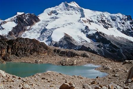 Huayna Potosi from Charquini, Bolivia