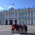Group in front of the Hermitage