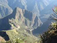 A nice shot down looking at Machu Picchu.