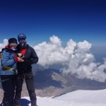 Sasha and Mark on Elbrus