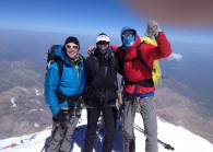 3 of the 5 summiters at the top