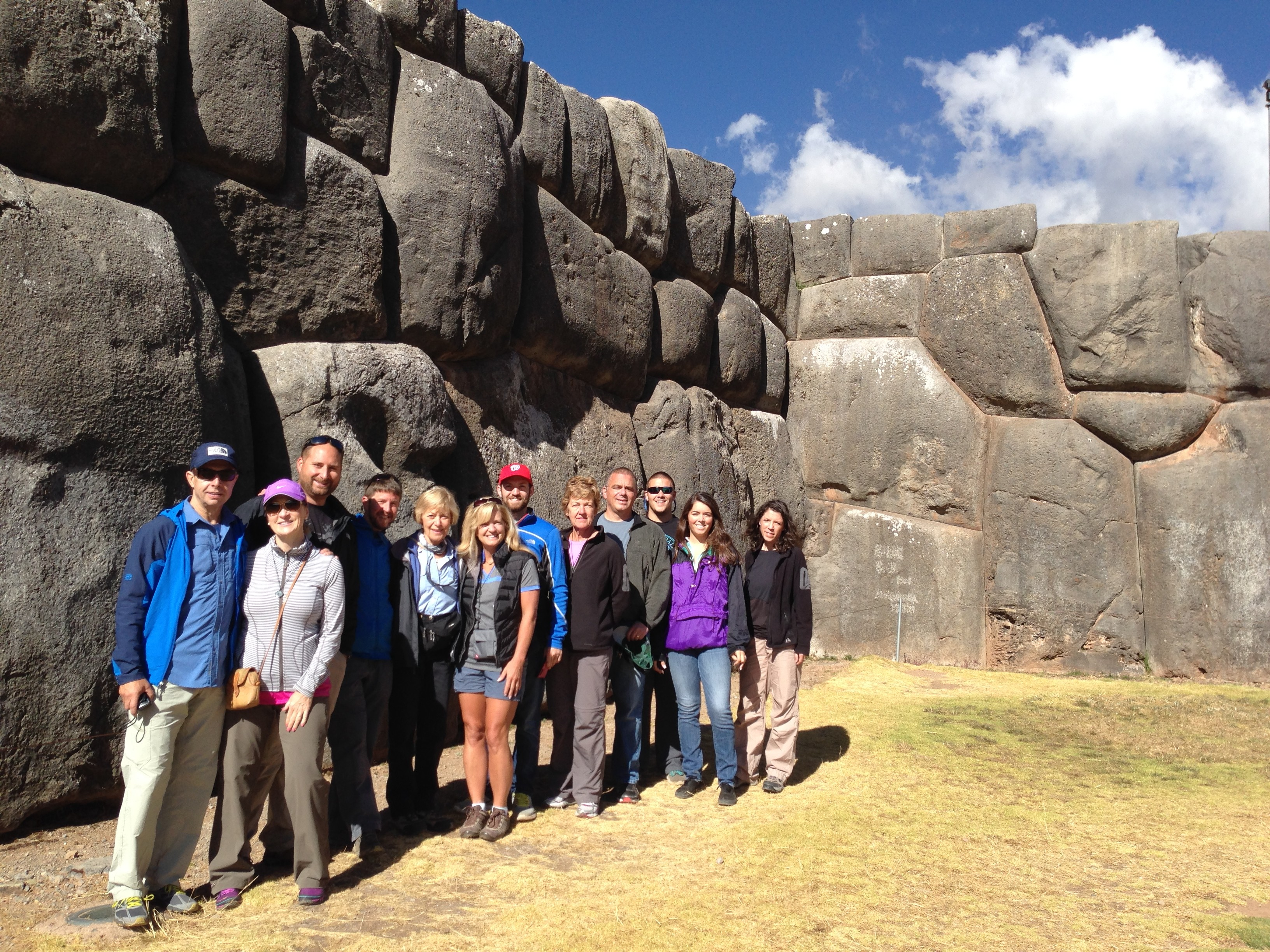 The team enjoying part of the Sacred Valley Tour.