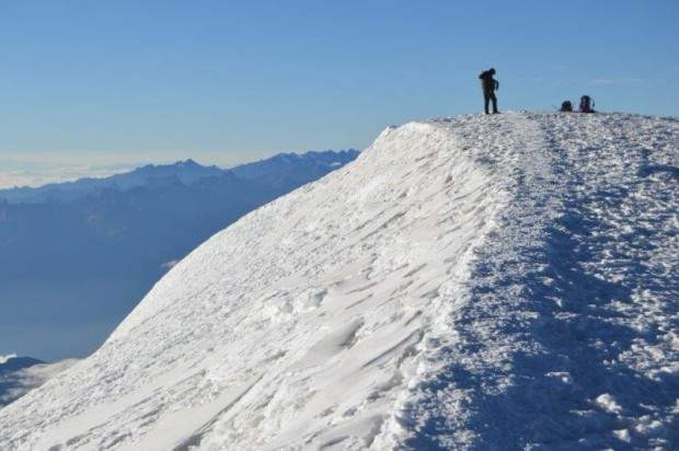 Summit of Illimani. (Luke Reilly)