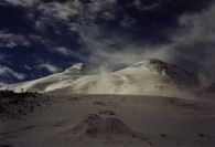 Elbrus. West (highest) summit on the left hand side.