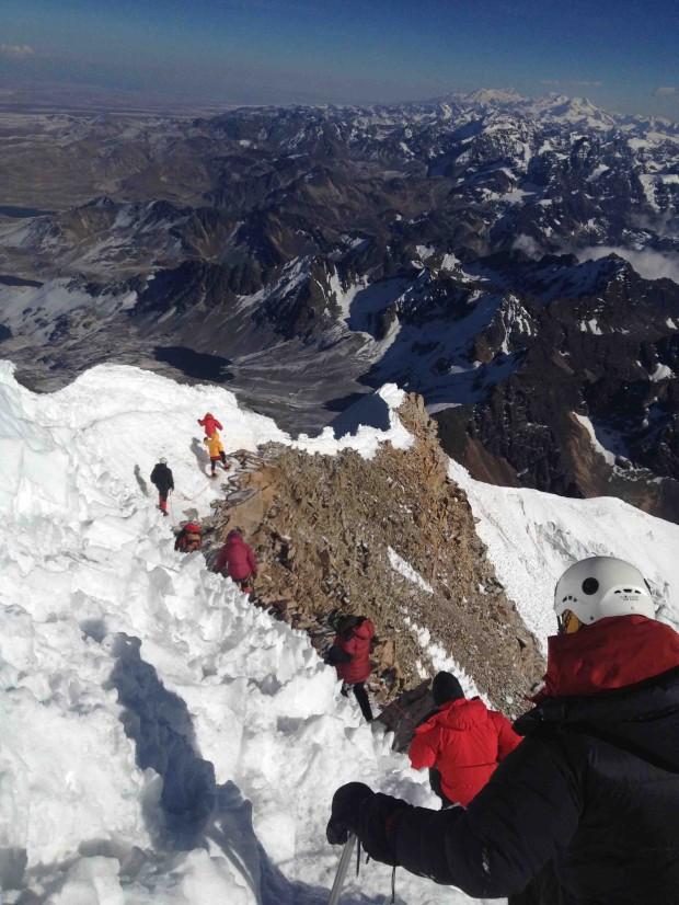 Huayna Potosi summit ridge. (Greg Vernovage)