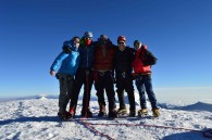 Illimani summit climbers (Greg Vernovage)