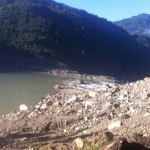 Lake impounded by landslide into Kosi River (Phunuru Sherpa)