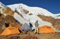 Nido de Condor. High Camp on Illimani. (Luke Reilly)