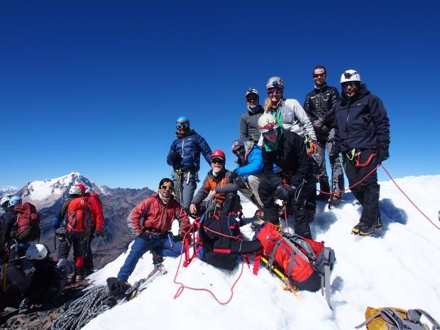 Summit of Pequeño Alpamayo (Steve Neill)