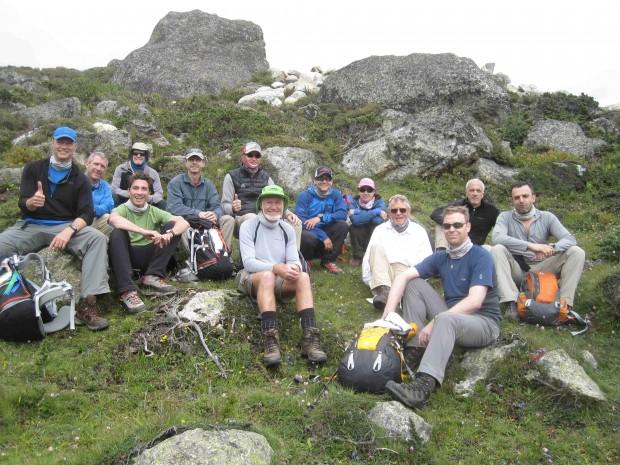 Cho Oyu Climbers and Tibet Trekkers on hike above Nyalam (Mike Hamill)