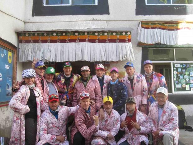 Cho Oyu team in Nyalam (Mike Hamill)