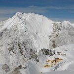 Looking down on Camp 1 on Cho Oyu (Greg Vernovage)