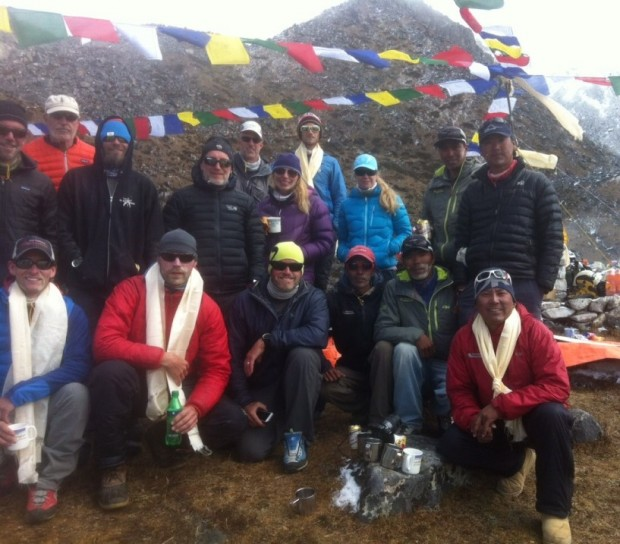 Ama Dablam Team Photo at the Puja! (Phunuru)