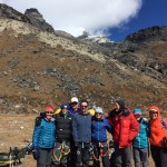 3 x 3 and Lobuche Team Reunion at Lobuche Base Camp (Tye Chapman)