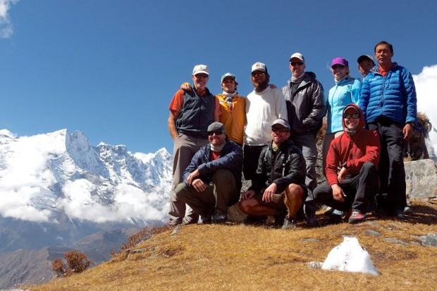 Ama Dablam Team all together in Tengboche (Mark Allen)