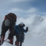 Climbers topping out on Lobuche (Greg Vernovage)