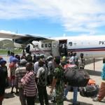 Loading the plane in Jayapura (Dan Zokaites)