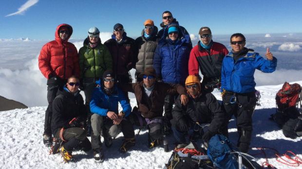 IMG team on the summit of Cotopaxi