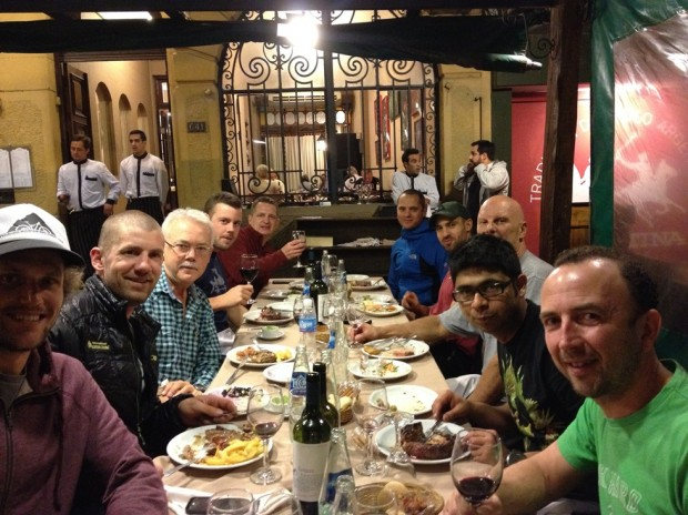 First team dinner in Mendoza