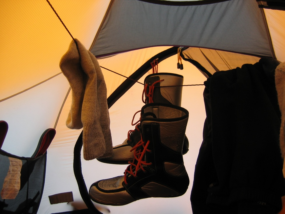 Life inside a tent
