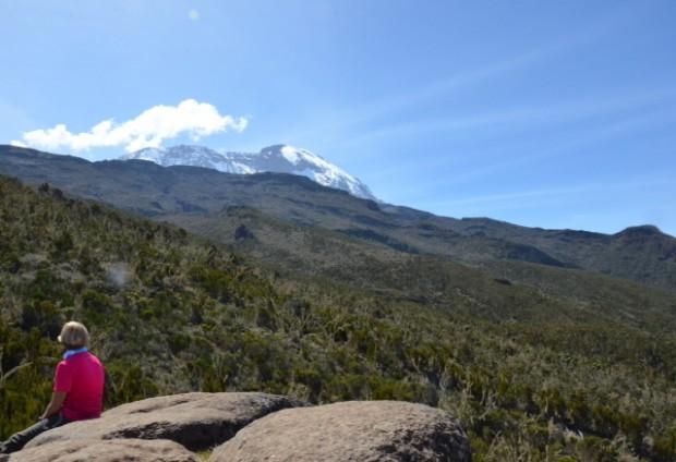 View of  Kili on the way to Shira Plateau  (Eben Reckord)