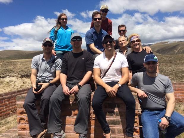 Luke's team on the equator